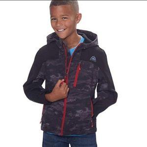 Snozu boys coat jacket black Gray red 5 6 7 8 S M